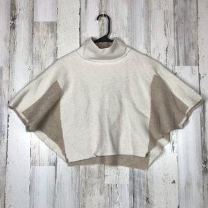 Benedetta B | White& Cream Crop Top Sweater Poncho